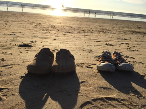 Must go shoeless in the sand.